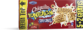 Pack of Chiquilín Energy Soft Cakes