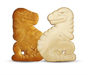 Galleta de Dinosaurus Chocoblanco
